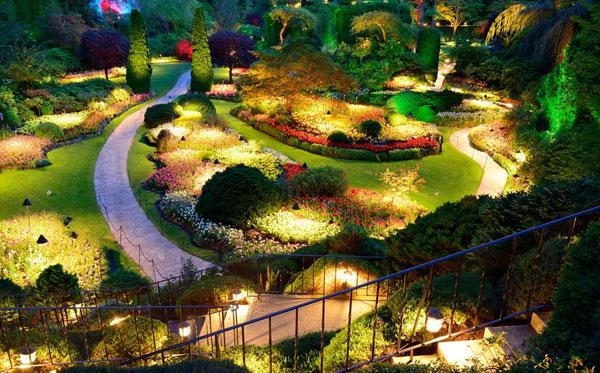 نورپردازی محوطه باغ